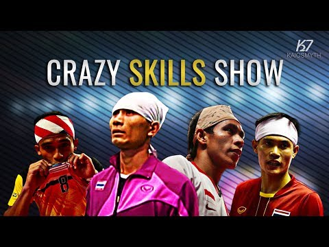 Sepak Takraw ● 15 Crazy Skills in Sepaktakraw | HD