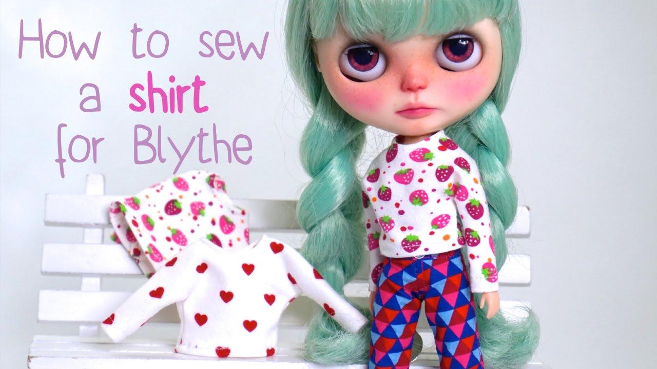 How To Sew A Shirt For Blythe Dolls Wie N 228 Ht Man Ein