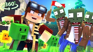 Plants Vs Zombies In 360° - A Minecraft Vr Video