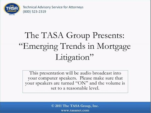 Emerging Trends in Mortgage Litigation