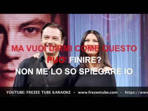 Tiziano Ferro & Laura Pausini - Non me lo so spiegare - Karaoke con testo