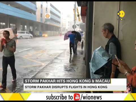 Typhoon Pakhar hits Hong Kong, Macau after typhoon Hato