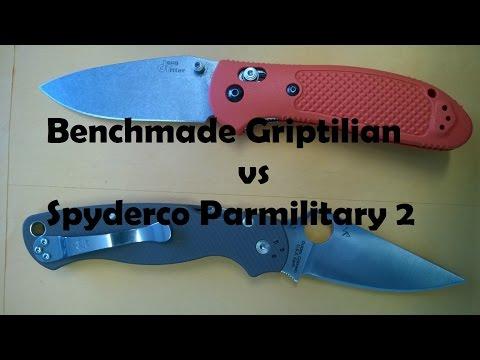 Benchmade Griptilian Spyderco Paramilitary 2 Comparison
