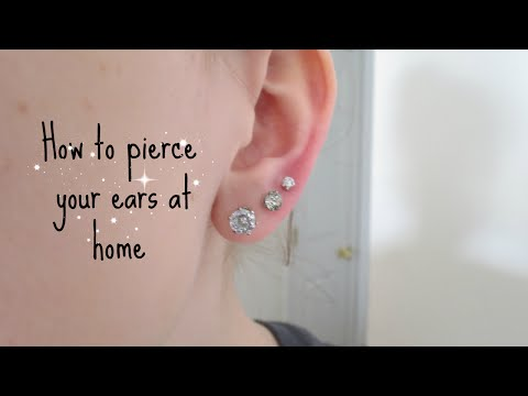 How I pierced my ears at home | Alyssa Nicole