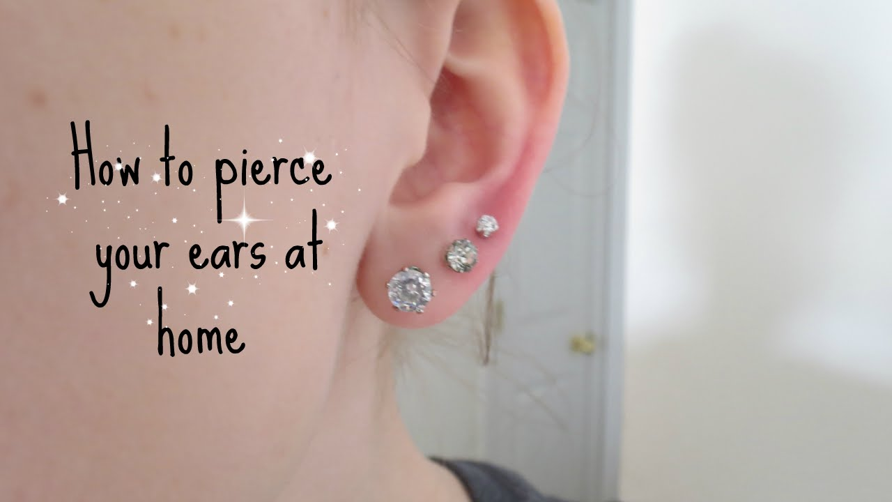 How I Pierced My Ears At Home Alyssa Nicole Youtube