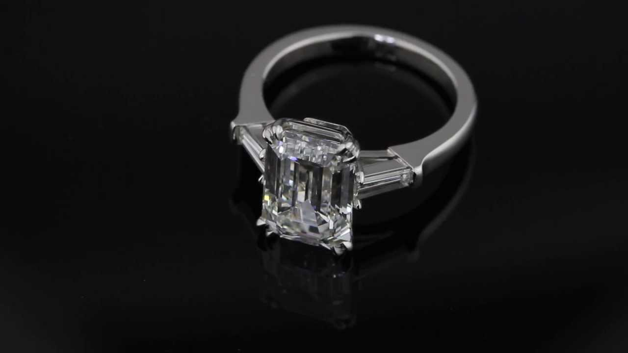 Hand Forged Classic Emerald Cut Diamond With Tapered