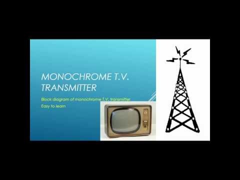 block diagram of monochrome TV transmitter