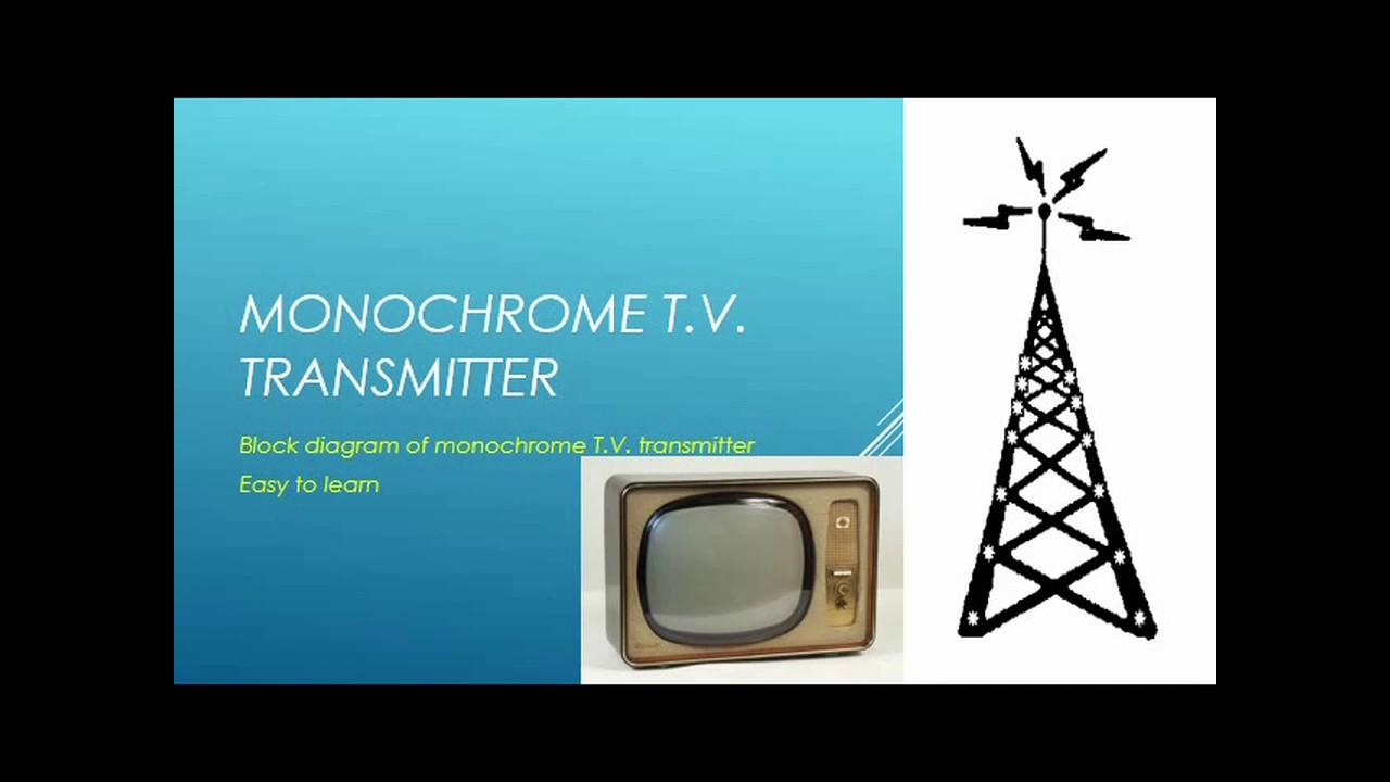 monochrome tv transmitter block diagram