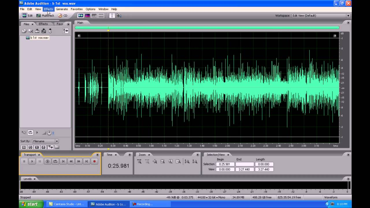 adobe audition 3.0 how to use
