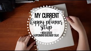 My Current Happy Planner Setup   NEW COVER!