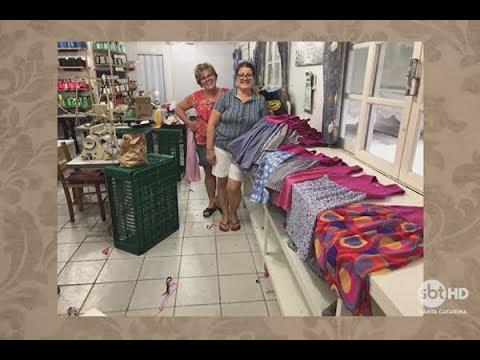 Voluntárias de Camboriú e Brusque costuram roupas para crianças carentes