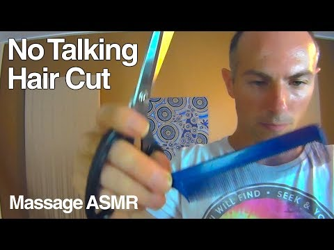 ASMR Hair Cut, Brushing - No Talking - Role Play  - Head Massage Sounds