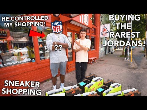 I Let An NFL Player Control My Sneaker Shopping! (10 PAIRS!)