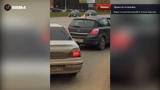 В Ижевске автомобилист избил водителя троллейбуса