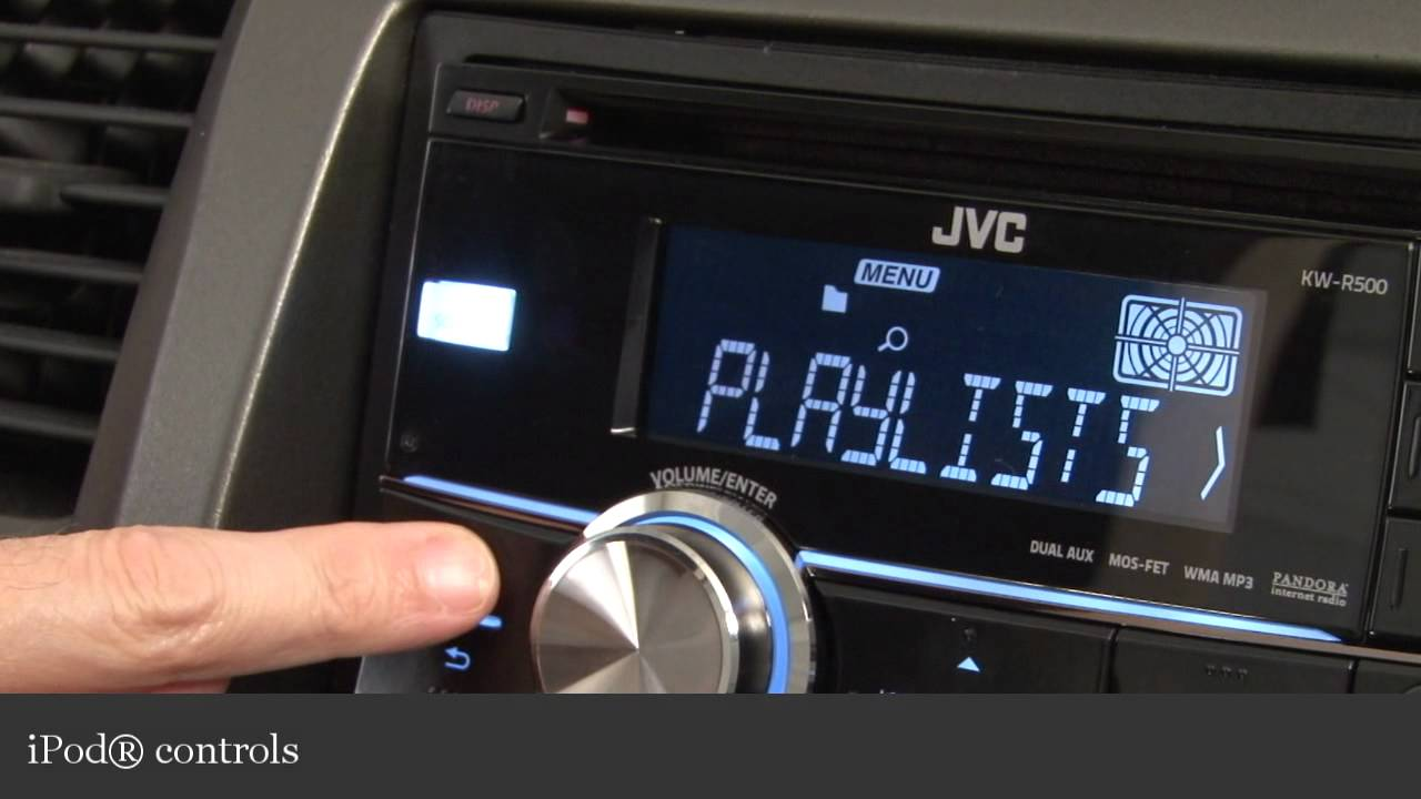JVC KW-R500 Car CD Receiver Display and Controls Demo | Crutchfield ...