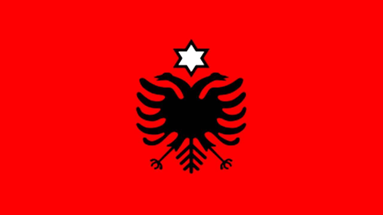 Lujo Colorear Bandera De Albania Bandera - Dibujos Para Colorear En ...