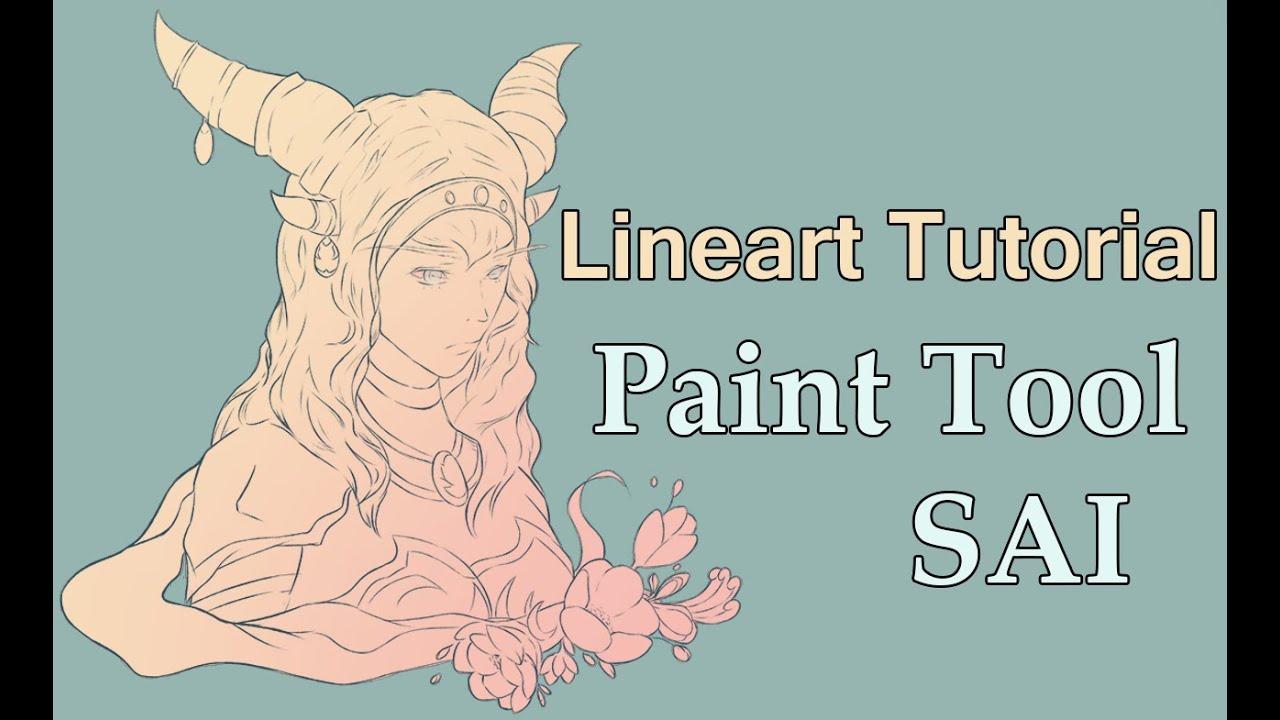 Paint tool sai lineart tutorial for beginners youtube baditri Gallery