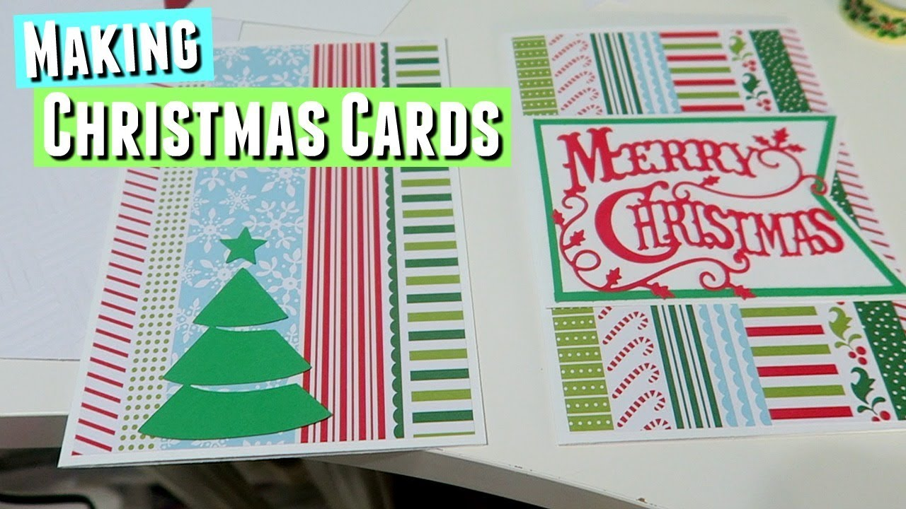 DIY CHRISTMAS CARDS with Sizzix Big Shot - YouTube