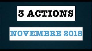 3 ACTIONS A ACHETER EN NOVEMBRE 2018
