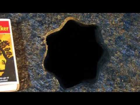 Ancient hole in the stone depth of 4 meters in the form of a seven pointed star found in Norway