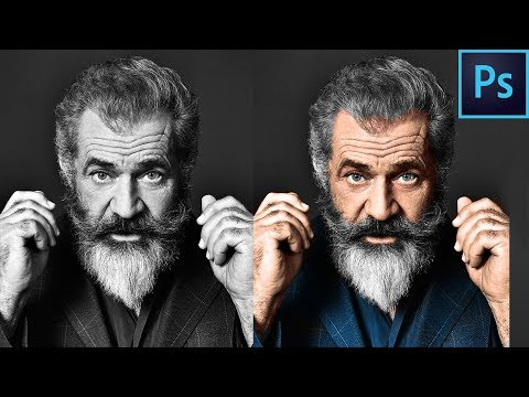 how to make black and white image to colour in photoshop speed art