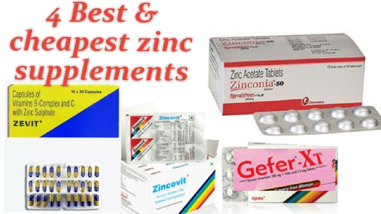 4 Best Cheapest Zinc Supplements Zincovit Tablet Zinconia