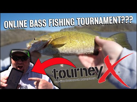 Fishing An Online Bass Tournament With The Tourney X App!! ( 1vs1)