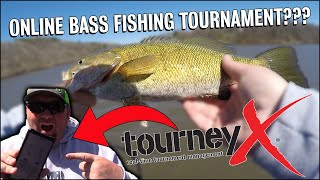 Fishing an Online Bass Tournament with the Tourney X App 1vs1