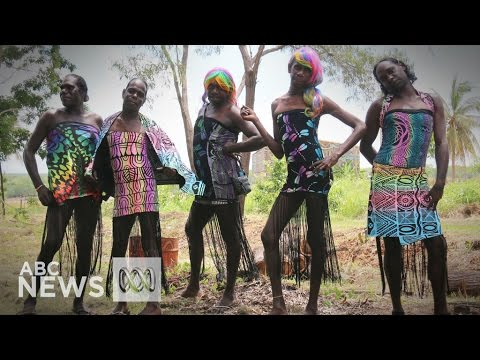 Tiwi Islands Sistagirls attend the Sydney Mardi Gras for the first time