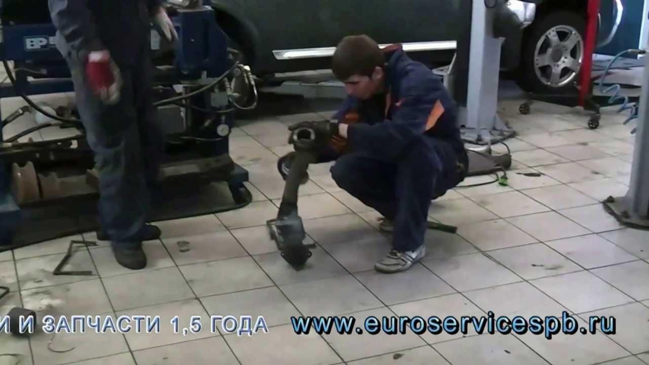 замена гофры приемной трубы audi а6с5 1,8 arh