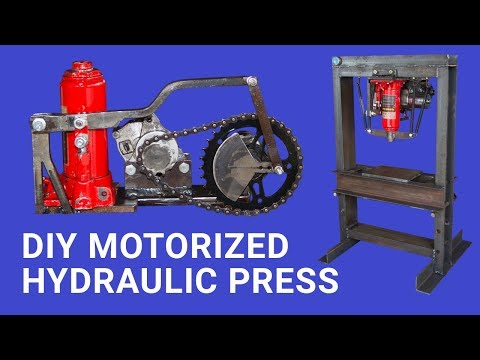 Diy Motorized Hydraulic Press Bench top || Plus Giveaway ||