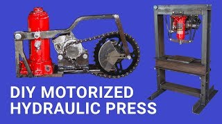 Diy Motorized Hydraulic Press Bench top || Plus Giveaway ||