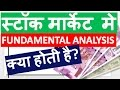 What is Fundamental Analysis? in Hindi | Share Market मे FUNDAMENTAL ANALYSIS क्या होती है?