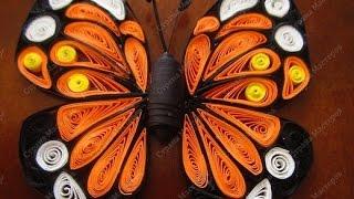 Квиллинг для начинающих  Простые бабочки(Видео-урок по квиллингу (бумагокручению) для новичков на примере изготовления простой бабочки. Квиллинг..., 2014-10-08T12:00:37.000Z)