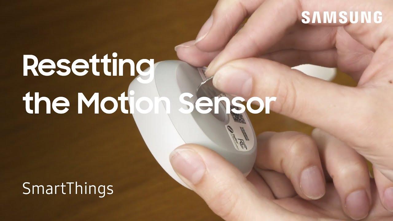 Reset Samsung Smartthings Motion Sensor
