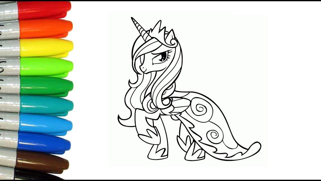 Como Pintar a Princesa Cadance de My Little Pony - YouTube