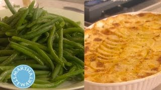 Scalloped Potatoes And Green Bean Side Dishes | Thanksgiving Recipes | Martha Stewart