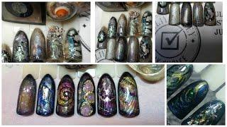 Юлия Билей - Перламутровые ракушки / Julia Biley - Pearly seashell nail art Periscope