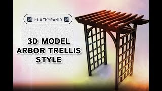 3d Model Arbor Trellis Style 1