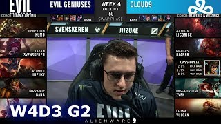 Evil Geniuses vs Cloud 9 | Week 4 Day 3 S10 LCS Spring 2020 | EG vs C9 W4D3