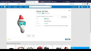 New Santa Tee Vee | Roblox Christmas 2018 (1 DAY TIMER)