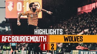 MAGIC MOUTINHO FREE-KICK! Bournemouth 1-2 Wolves   Highlights