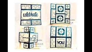 InspireINK bloghop tutorial: Endless Card Using FREE Sale A Bration Dies from   Stampin' Up!®