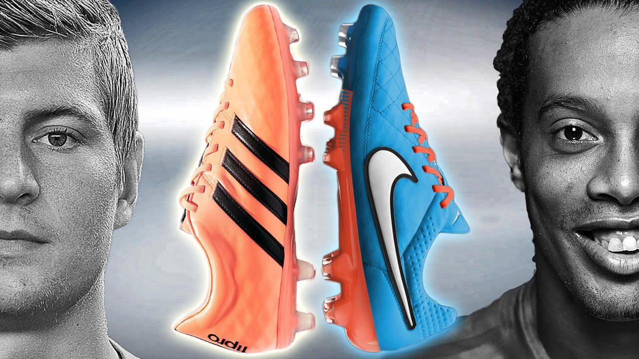 21bb80bd99d Ronaldinho VS Kroos - Boot Battle  Nike Tiempo 5 vs adidas 11Pro Test    Review - YouTube