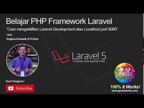 2. Cara mengaktifkan laravel development atau localhost port 8000