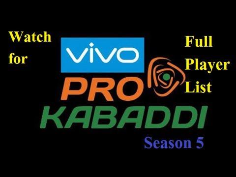||Full Player List of Pro Kabaddi 2017|Four new team|PKL 5 starts very soon|Season 5|Auction done|