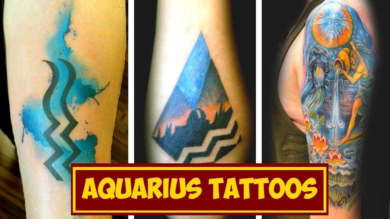 Zodiac Signs Tattoos Aquarius