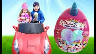 Kids play with Easter Surprise Eggs and open new Toys