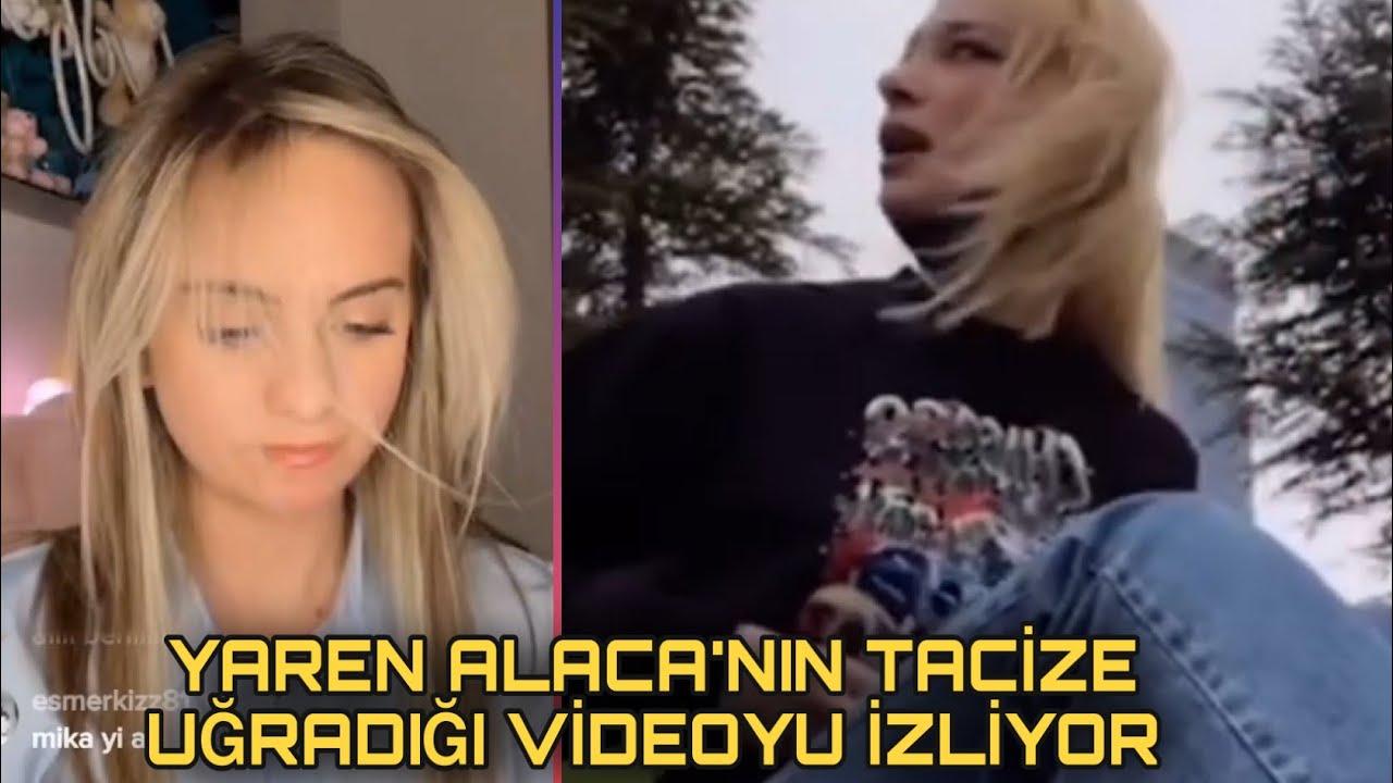 Cemre Solmaz Yaren Alaca'nın tacize uğradığı videoyu izliyor (çok sinirlendi)