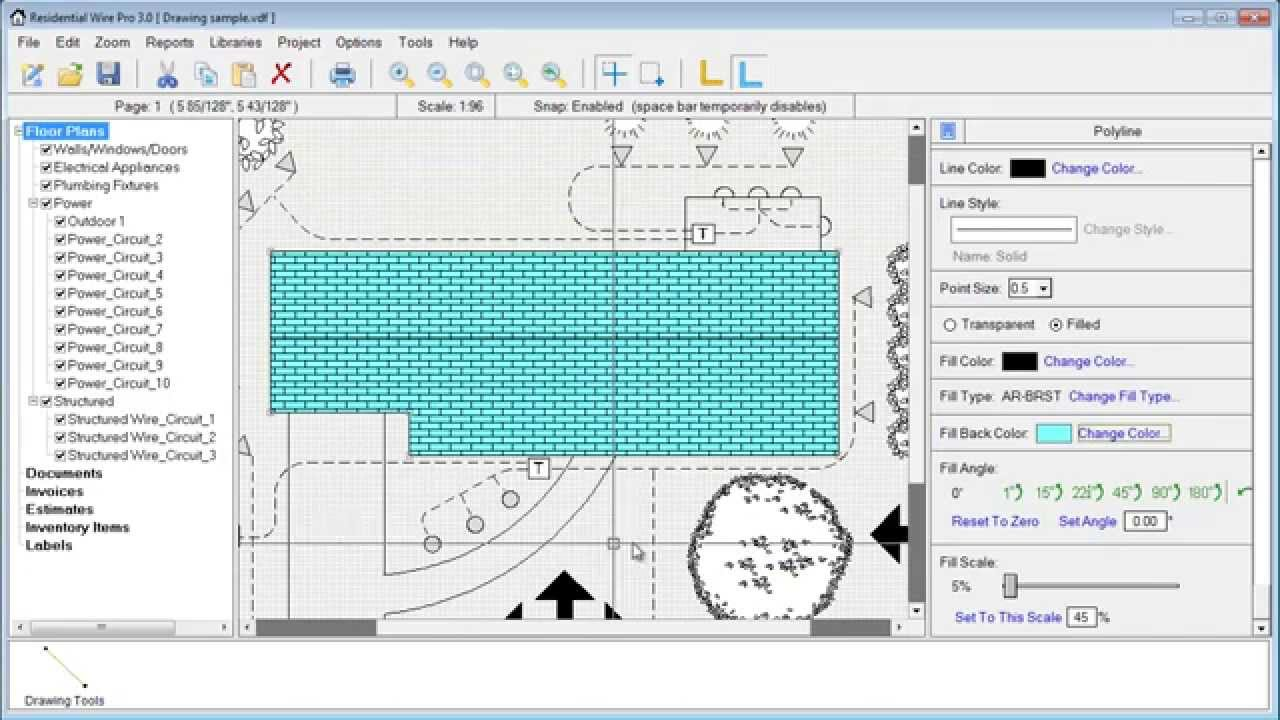 Residential Wire Pro - Drawing objects graphics and smart blocks ...